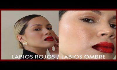 Técnica de maquillaje labios ombre o degradado