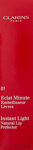 Clarins Eclat Minute Embelisseur Lèvres - Brillo de labios, color 01-rose shimmer, 12 ml