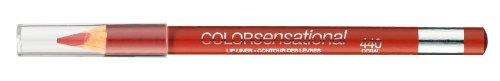 440 Coral de Fuego Labial Lápiz Delineador de Labios Color Sensacional de Gemey Maybelline