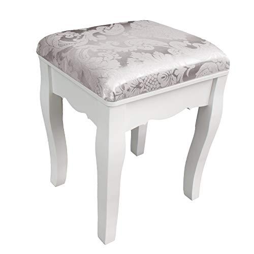 CCLIFE 147x100x40cmTocador maquillaje con cajones y taburete tocador de maquillaje mesa de maquillaje, Color:012-Blanco