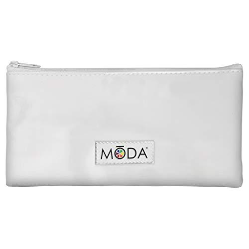 MODA Royal & Langnickel Juego completo de 5 brochas de maquillaje con bolsa, incluye polvo multiusos, base angular, sombra abovedada y pincel de delineador de ángulo, multicolor