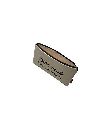 Hello-Bags Bolso Neceser/Cartera de Mano. Algodón 100%. Blanco con Cremallera y Forro Interior. 23 * 15,5 cm Incluye sobre Kraft de Regalo