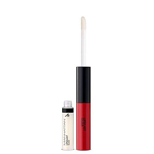 Manhattan - Lapiz de labios Lips2Last con color y gloss, Color 45A, 1 unidad (1x 8ml)