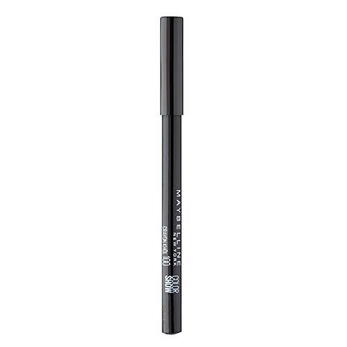 Maybelline New York - Lápiz Perfilador de Ojos Negro Color Show, Tono 100 Ultra Black