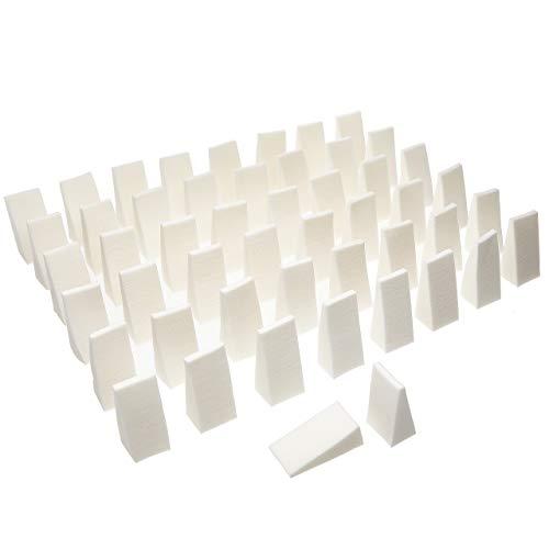 Fantasia - 21010 - esponjas pequeñas maquillaje - blanco - 50 piezas