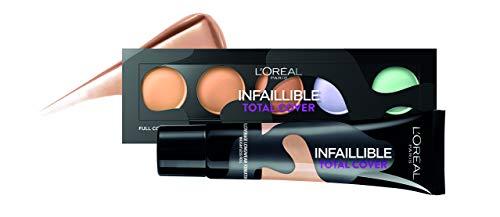 L'Oréal Paris Total Cover, Base Maquillaje Cobertura Total, Tono de Piel Medio 20 Sable Sand - 35 gr