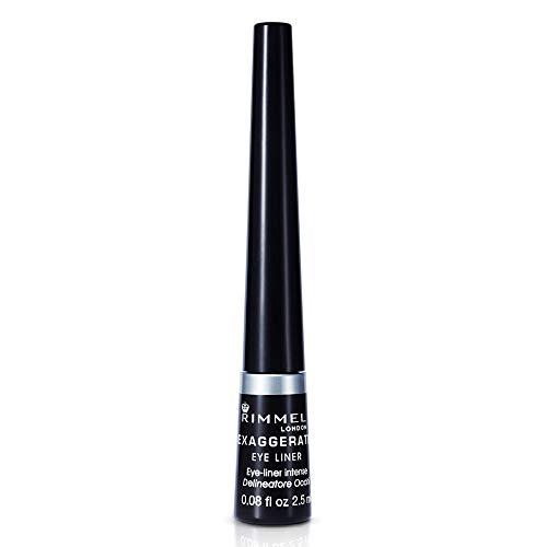 Rimmel London Exaggerate Automatic Waterproof Delineador de Ojos líquido, Tono 001 Negro 20 g