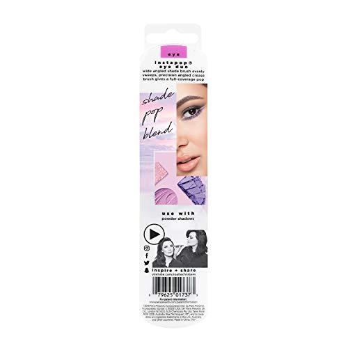 Real Techniques instapop™ - Juego de dos brochas para maquillaje y sombra de ojos (el color del paquete y de los mangos puede variar)