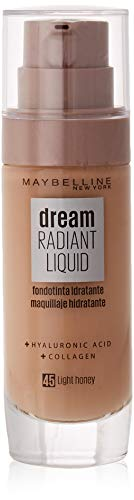 Maybelline New York Dream Radiant Liquid - Base de Maquillaje Líquida, Tono Miel claro (045 Light honey), 30 ml