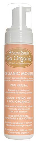 Farma Dorsch Go Organic Mousse Espuma Limpiadora Y Desmaquillante De Rostro Y Ojos (Para Todo Tipo De Pieles) - 200 ml.