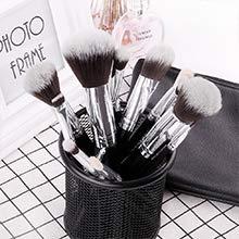 DUcare Brochas de Maquillaje 15 pcs Maquillaje Profesional Pinceles Maquillaje de Ojos Rubor Contorno de los Labios Brochas Cosméticas+ Bolso Negro