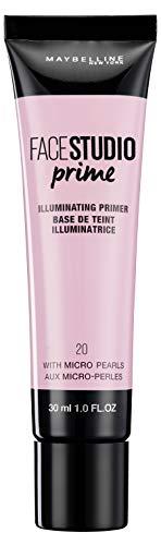 Maybelline New York - Face Studio Primer, Primer Prebase de Maquillaje, Iluminador, Tono 20 - 30 ml