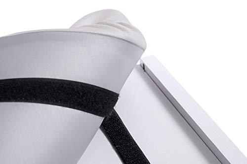 Tocador de Mesa de Maquillaje con Taburete de Espejo XXL con Ruedas Cajón Plegable Organizador de cosméticos Blanco Moderno