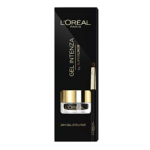 L'Oréal Paris Superliner Gel Intenza, Delineador en Gel con Pincel, Color Negro - 2,8 gr