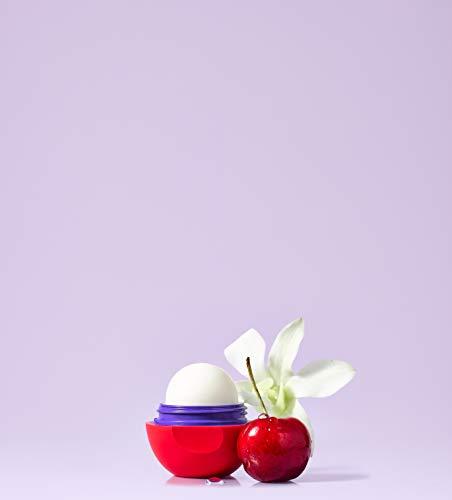 eos Flavor - Bálsamo labial hidratante con sabor a cereza y vainilla para labios suaves con manteca de karité natural, 7 g