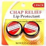 Chap Relief Bálsamo labial – Protector de labios medicado premium (paquete de 2 frascos)