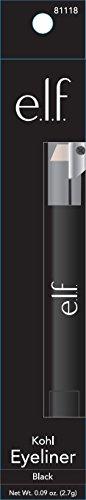 e.l.f. Kohl delineador de ojos, negro, 0.095Ounce (pata)