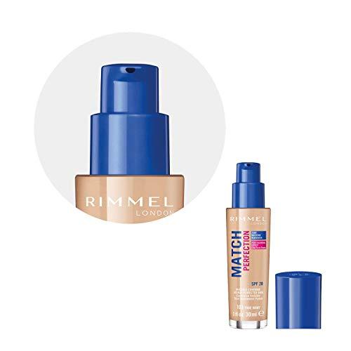 Rimmel London Match Perfection Foundation Base de Maquillaje Tono 103 True Ivory, 30 ml