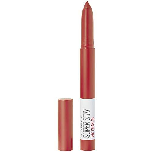 Maybelline New York - Pintalabios SuperStay Ink Crayón tono 40 Laugh Louder, rojo tierra