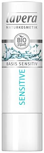 lavera Bálsamo labial base Sensitiv ∙ Bio Jojoba ∙ Para labios delicados - Ingredientes activos vegetales orgánicos ✔ Cosmética natural ✔ Natural e innovadora ✔ Cuidado labial Pack de 6 (1 unidad)