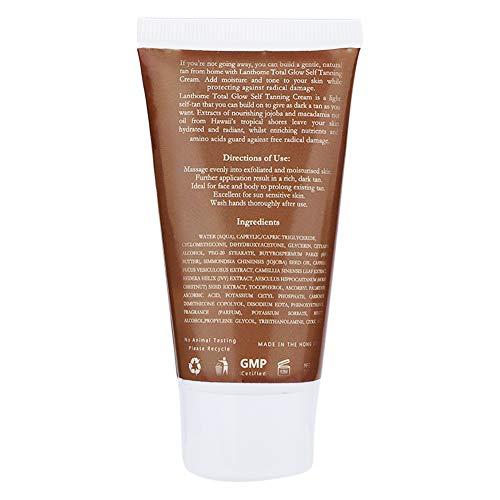 50ml Self Tanner Loción Autobronceadora Bronce Self Sun Tan Enhancer Crema Bronceadora Natural Bronzer Bronceador Bronceador para Cuerpo y Rostro