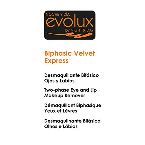 NOCHE Y DIA EVOLUX BY NIGHT & DAY Desmaquillante Bifásico Ojos y Labios, Evolux Biphasic Velvet Express 150 ml