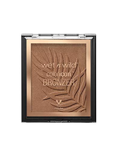 Wet n Wild - Color Icon Bronzer - Polvo Bronceador de Larga Duración - Tono Bronceado Natural en el Rostro, en Cuello y Pecho - Fórmula Enriquecida con Gel - Vegano - What Shady Beaches - 1 Unidad