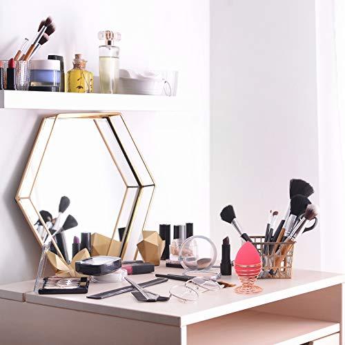 TRIXES Soportes Estantes Esponja Maquillaje Compatible con Beautyblenders Estante Borla de Maquillaje o Estante Expositor Soporte de Secado Transpirable Oro Rosa Espiral de Alambre de Acero Inoxidable