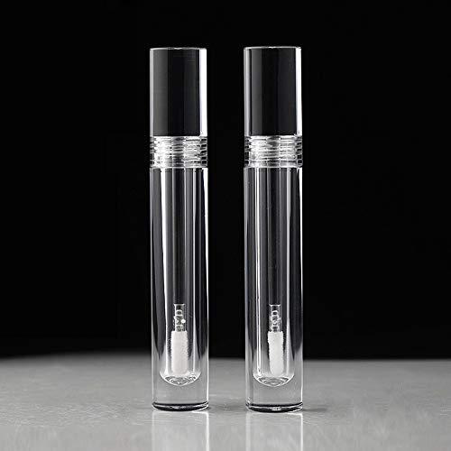 Tubos de brillo de labios con varita vacía, 10 unidades de 5 ml de envases de brillo de labios transparentes, tubos de brillo de labios con tapones de goma para brillo de labios DIY