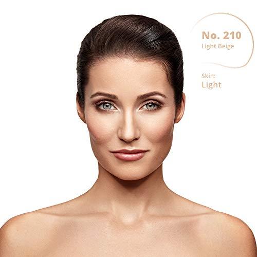 Dermacol DC Base Makeup Cover Total | Maquillaje Corrector Waterproof SPF 30 | Cubre Tatuajes, Cicatrices, Acné, Imperfecciones, Manchas en la Piel de la Cara y Cuerpo | Liquido - Mate Natural - 30g (210)