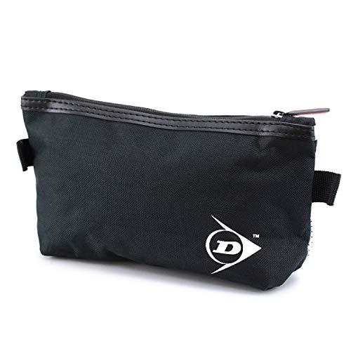 Neceser Estuche portatodo Viaje Dunlop - Bolsas de Aseo Organizador Accesorios de Baño Material Resistente Hombre Personal Vacaciones Viajes de Negocios Color Negro Estilo Moderno 23x13x7 cm