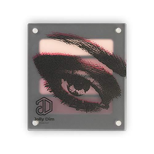 Jolly Dim Makeup - Set de sombras de ojos Pinky Purple, 4 colores. Mate y brillo. Paleta de sombras de ojos. Paleta de maquillaje de ojos para diario