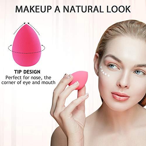 Esponja Maquillaje, Terresa 10 Pack de Makeup Blender Beauty para Base de Maquillaje, Ideal para Líquidos, Cremas y Polvos 9 Piezas Esponja De Maquillaje + 1 Piezas Makeup Esponja Soportes