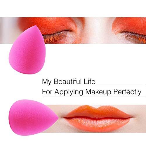 Set de 2 esponjas para aplicar maquillaje, de EmaxDesign sin látex, hipoalergénicas e inodoras