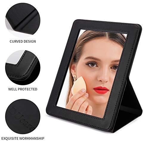 DUcare Espejo Plegable Espejo Maquillaje Espejo de Mesa Plegable (Negro)