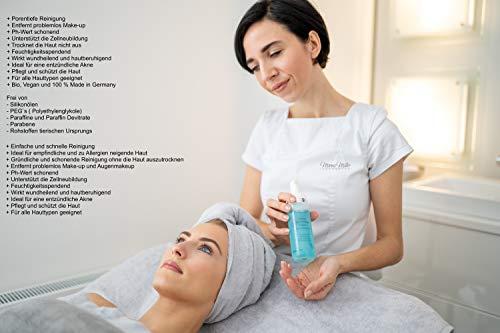 Espuma limpiadora vegana de 170 ml con principios activos naturales, limpia y cuida la cara, cuello y escote sin secar la piel.