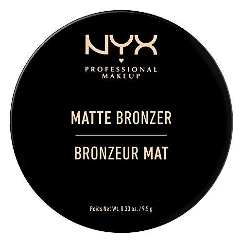 NYX Professional Makeup Polvos bronceadores Matte Bronzer, Polvos compactos, Sin brillos, Fórmula vegana, Tono: Deep