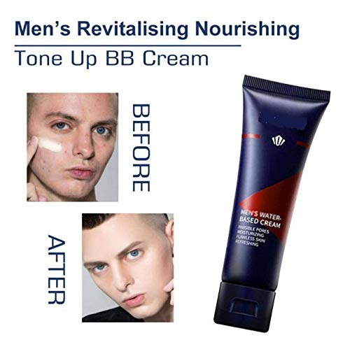 ZHiveA Mens Revitalising Nourishing Tone Up BB Cream,Mens BB & CC Creams Concealer, Brightening Skin Tone Naturally Instantly Hiding Pores Face Moisturizer Fit for All Skin 50gX2
