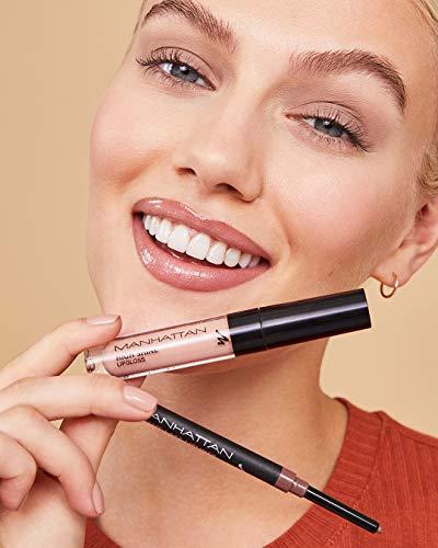 Manhattan High Shine - Brillo de labios para unos labios brillantes con una aplicación sencilla, 28 O (morado), 2,9 ml