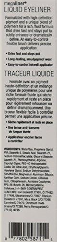 Wet n Wild Black Megaliner Liquid Eyeliner Delineador Ojos - 1 unidad