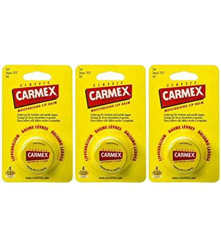 Carmex Classic Bálsamo Labial En Maceta,–Juego de 3(3x 8.4ml)