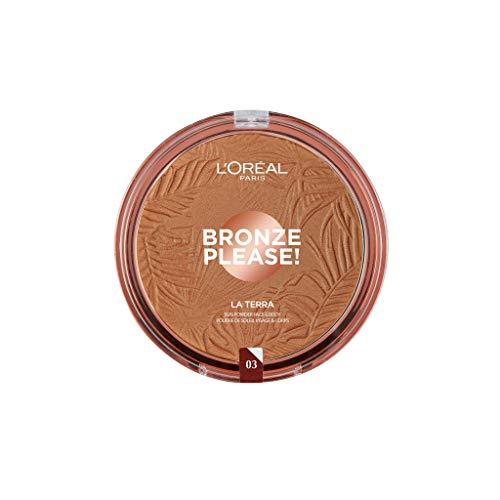 L'Oréal Paris Joli Bronze Please! Tierra compacta para rostro y cuerpo, formato Maxi, 03 Amalfi.