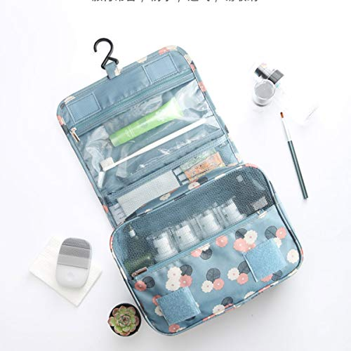 OrgaWise Neceser Maquillaje Impermeable de Gran Capacidad con Gancho Colgante, Viaje Camping Cosas Necesarias, Envía un Lindo Neceser Viaje Pequeño