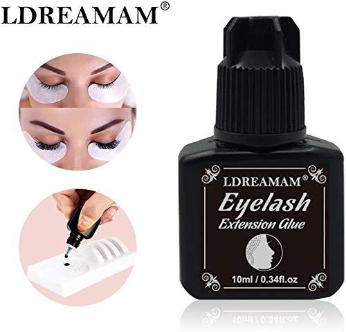 Eyelash Extension Glue,Glue Eyelashes,Pegamento Pestañas Postizas,Pestañas Falsas Extensión Pegamento,Pegamento para Extensión de Pestañas,Secado Rápido/Firme/larga duración