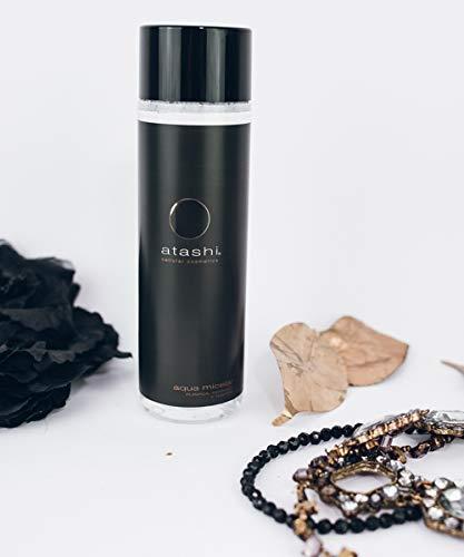 Atashi Antiedad - Agua Micelar Pack de 2 | Desmaquilla Rostro, Ojos y Labios | Micelas de Origen 100% Natural | 250ml x 2