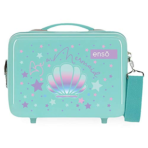 Enso Neceser ABS Be a Mermaid, color Verde