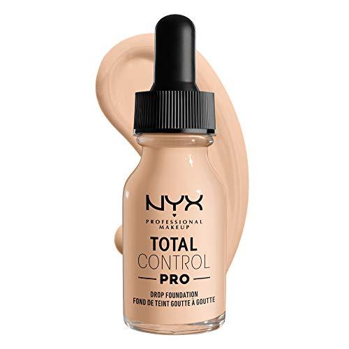 NYX Professional Makeup Base de maquillaje líquida Total Control Pro Drop, Dosificación precisa, Cobertura modulable y personalizable, Fórmula vegana, Acabado natural, 13 ml, Tono: 4 Ivory