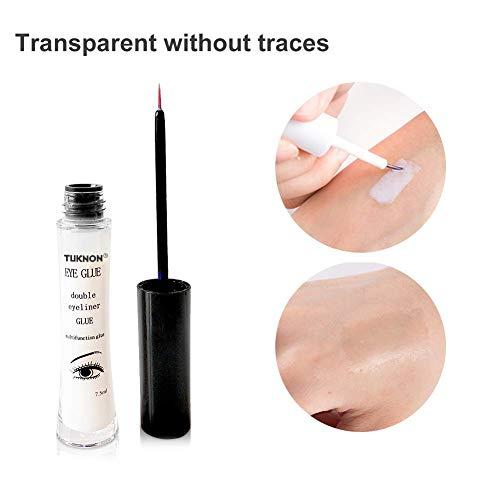 Pegamento Pestañas Postizas, Eyelash Extension Glue, Pegamento transparente para pestañas, Secado Rápido, Firme, larga duración, 7.5ml