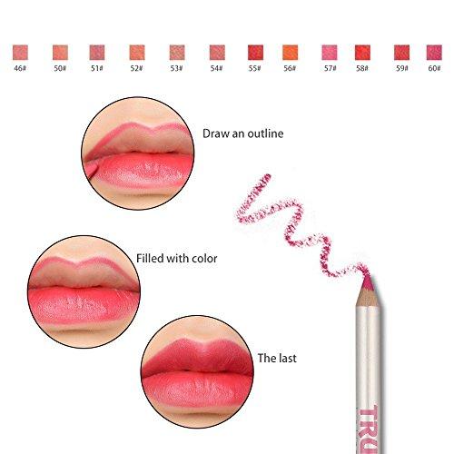 Hosaire 12 Piezas/Set Impermeable Lápiz Delineador de Labios de Larga Duración Lip Liner Herramientas del Maquillaje
