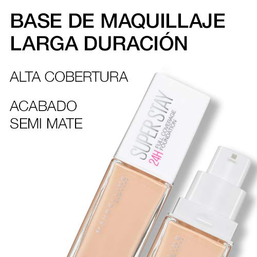 Maybelline New York, Base de Maquillaje, Superstay 24H, Nude (21), 30 ml